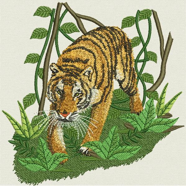 Embroidery designs wild animals iii