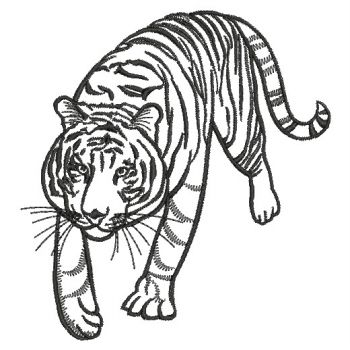 Embroidery Designs Wild Animal Outlines 04 Sm