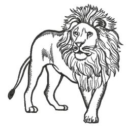 wild animal outlines 07sm machine embroidery designs - Animal Outlines