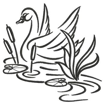 embroidery designs swan outline 02 sm