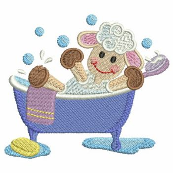 Embroidery designs bath time cuties for Bathroom embroidery designs