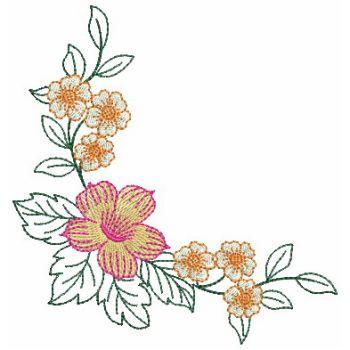 Embroidery Designs Heirloom Flower CornerLg