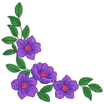 Embroidery Designs Heirloom Flower CornerMd
