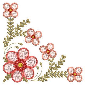Embroidery Designs Fancy Flower CornerMd