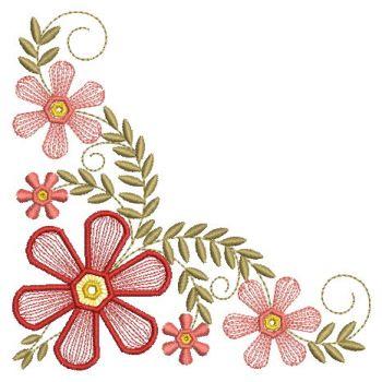 Embroidery Designs Fancy Flower CornerLg