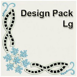 Embroidery Designs Snowflake Corner Cutwork Lg