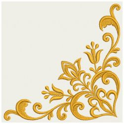 Embroidery Designs Heart Floral Damask Corner 06 Lg