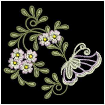 Embroidery Designs  Butterfly Flower DecorationsSm