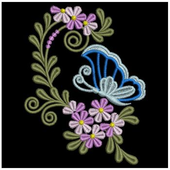 Embroidery Designs  Butterfly Flower DecorationsLg