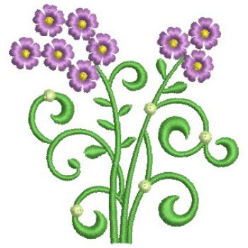Embroidery Designs Simple Decorative Flowers